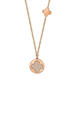 Shy Creation 14k Rose Gold 0.11ctw Clover Disc Pendant SC55009399 product image
