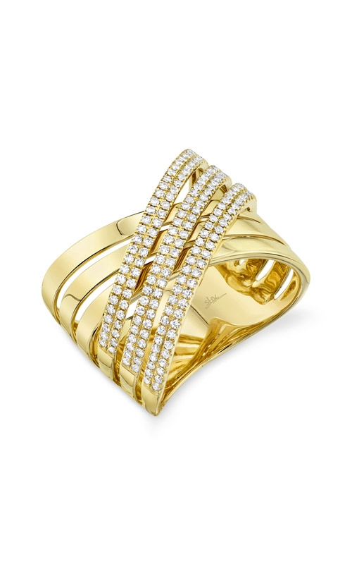 Shy Creation 14k Yellow Gold .54ctw Diamond Bridge Ring SC55009497 product image