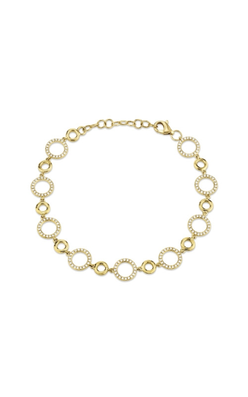 Shy Creation 14k Yellow Gold .56ctw Open Link Bracelet SC55009819 product image