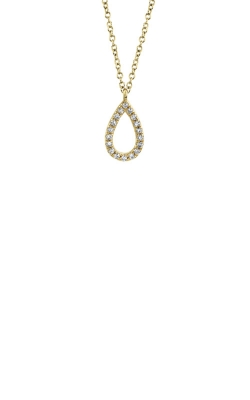 Shy Creation 14k Yellow Gold .06ctw Open Pear Necklace SC55010068 product image