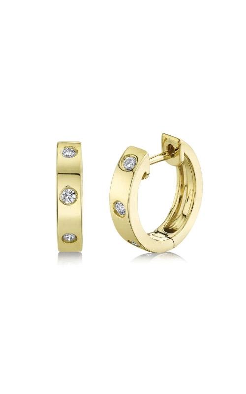 Shy Creation 14k Yellow Gold .11ctw Diamond Huggie Earrings SC22007557 product image