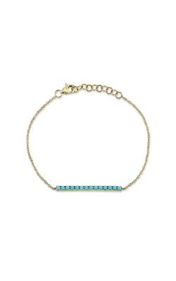 Shy Creation 14k Yellow Gold .53ctw Turquoise Bracelet SC55011440 product image