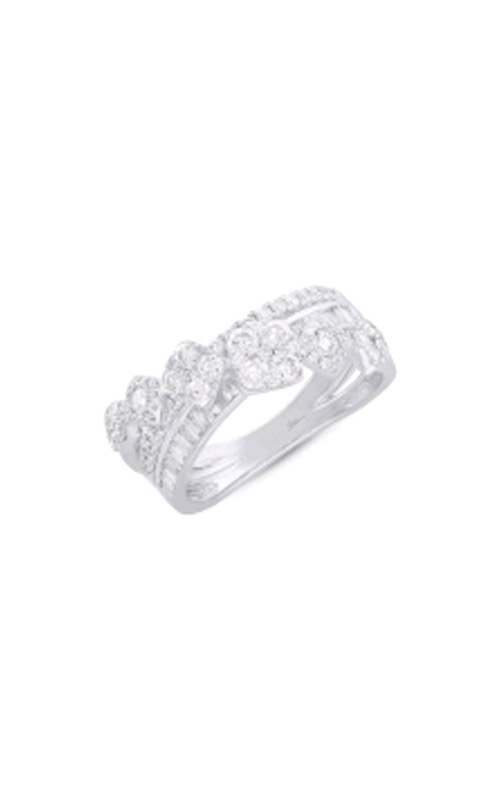 Shy Creation 14k White Gold 1.18ctw Brilliant Baguette  Bypass Ring SC66001220V2 product image