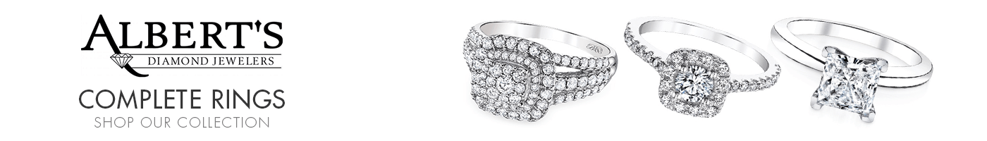 Engagement Rings with Center Diamond  at Albert's Diamond Jewelers