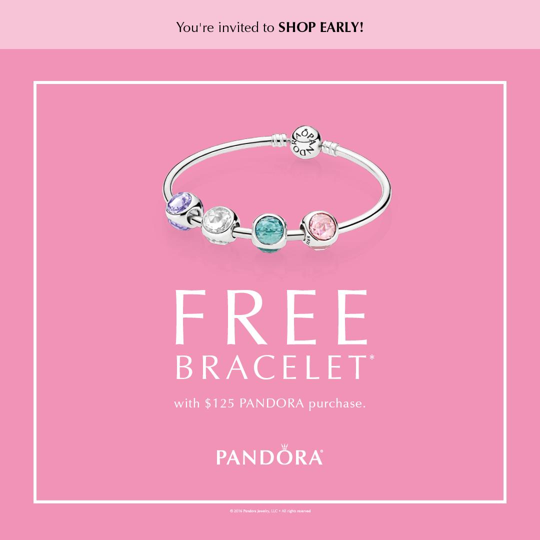 PANDORA FREE Bracelet Event Pre-Sale is Happening Now!