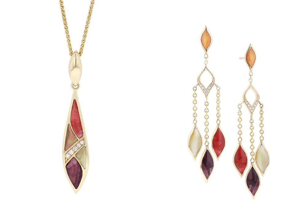 Riviera Pendant and Chandelier Earrings