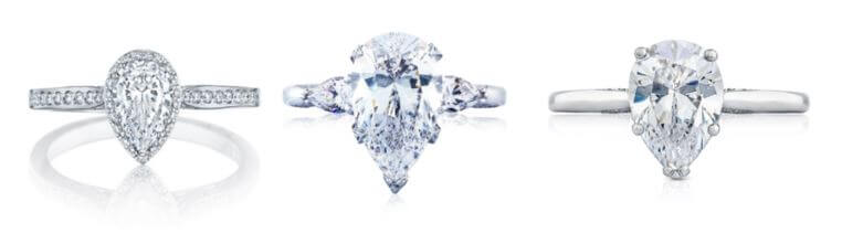 Pear Shaped Engagement Rings at Albert's Diamond Jewelers