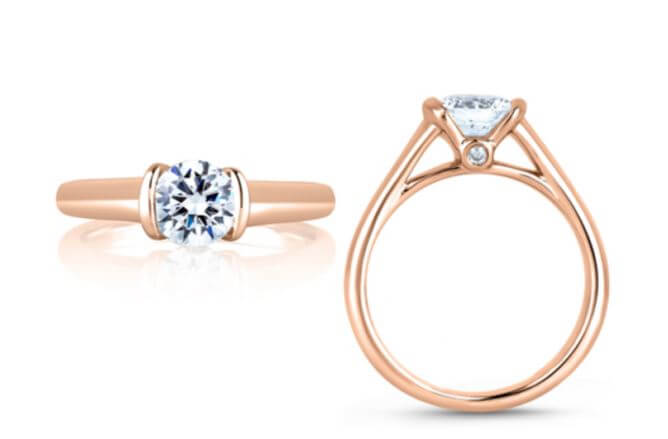 Tension Engagement Ring from A. Jaffe