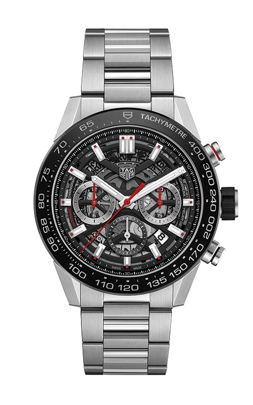 TAG Heuer Carrera 45mm Chronograph Calibre HEUER02 Automatic Watch CBG2A10.BA0654 product image