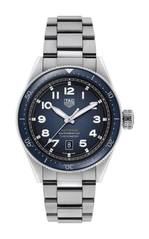 TAG Heuer Autavia 42mm Calibre 5 COSC Automatic Watch WBE5116.EB0173 product image