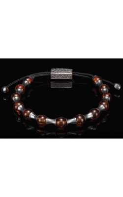 William Henry Amber Summit Baltic Bead Men's Bracelet BB18 AMB product image